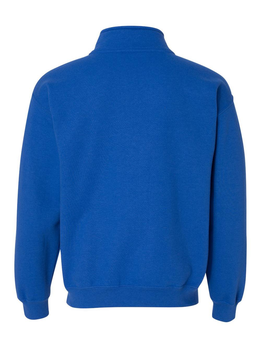 Gildan-Heavy-Blend-Quarter-Zip-Cadet-Collar-Sweatshirt-18800 thumbnail 28
