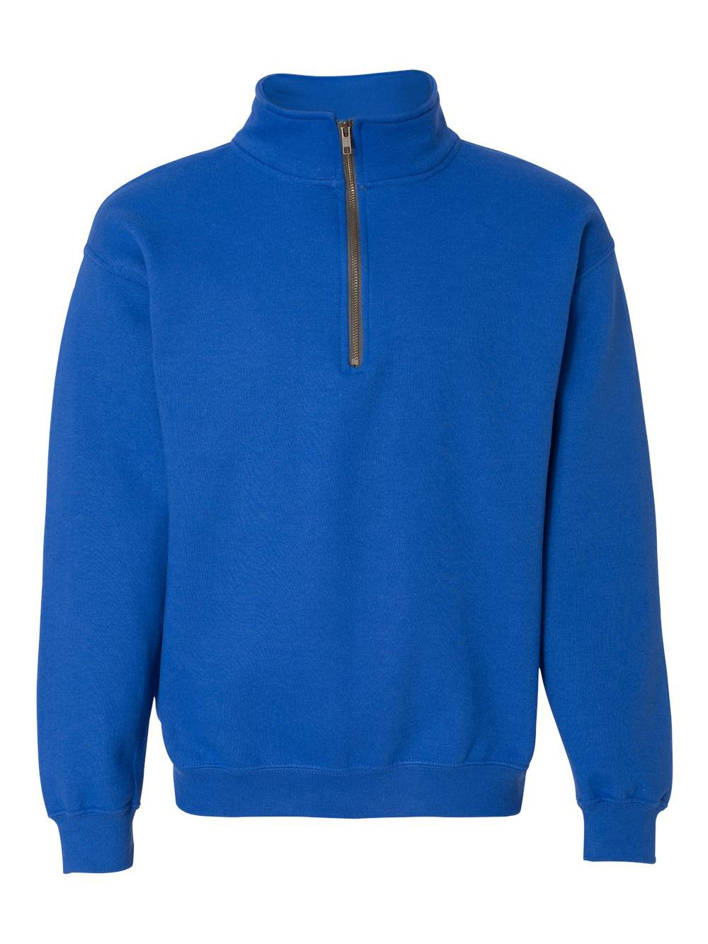 Gildan-Heavy-Blend-Quarter-Zip-Cadet-Collar-Sweatshirt-18800 thumbnail 27
