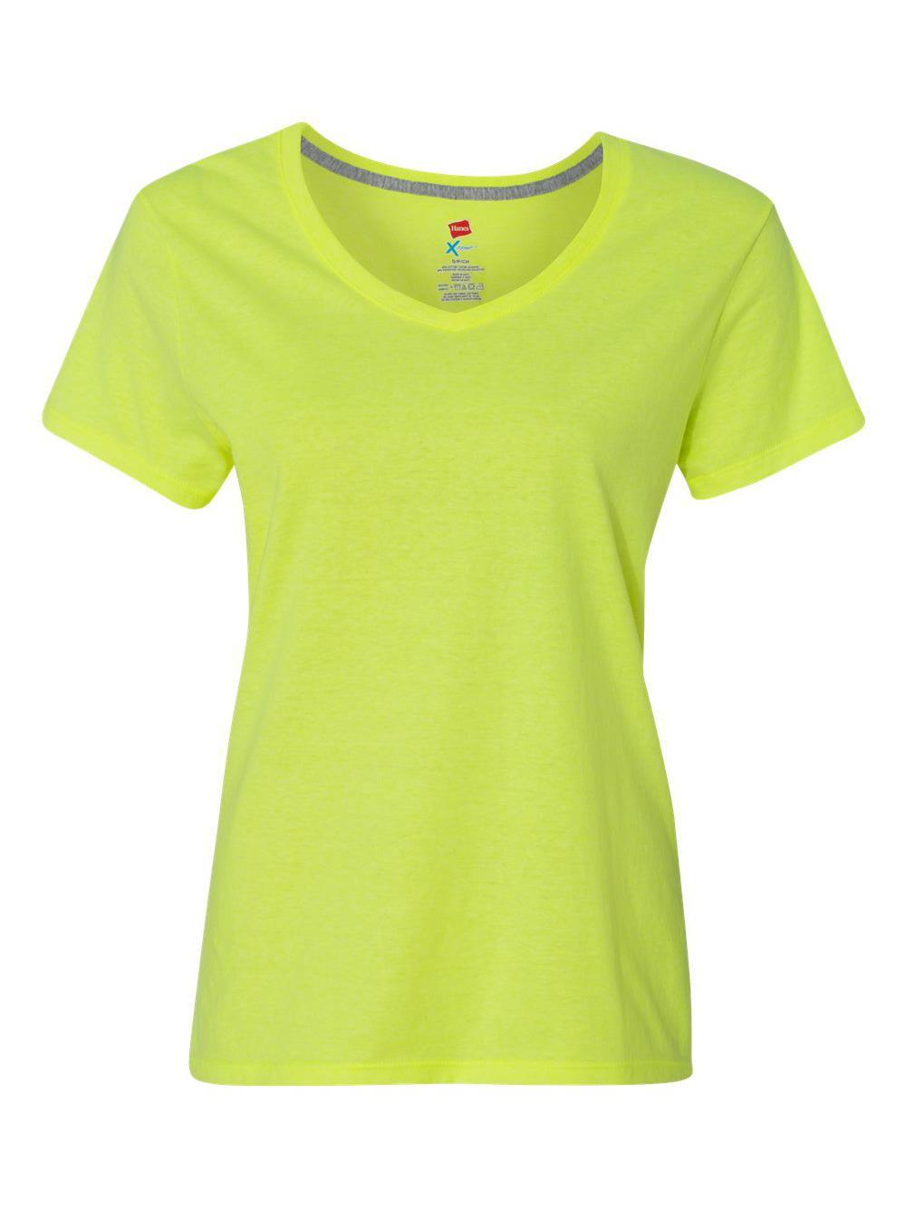 X-Temp Women/'s V-Neck T-Shirt 42V0 Hanes