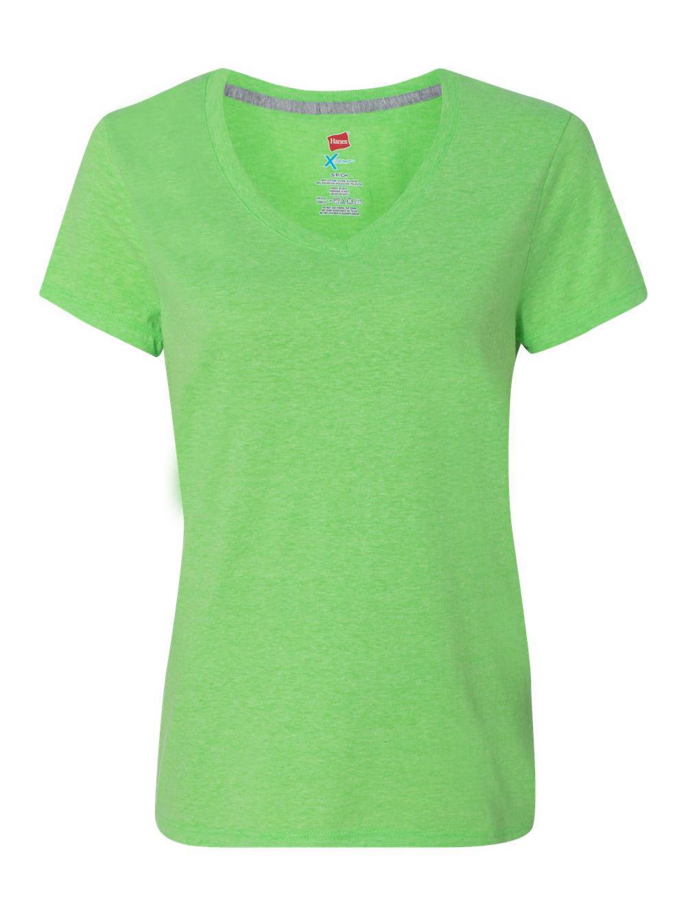 Hanes-X-Temp-Women-039-s-V-Neck-T-Shirt-42V0 thumbnail 12