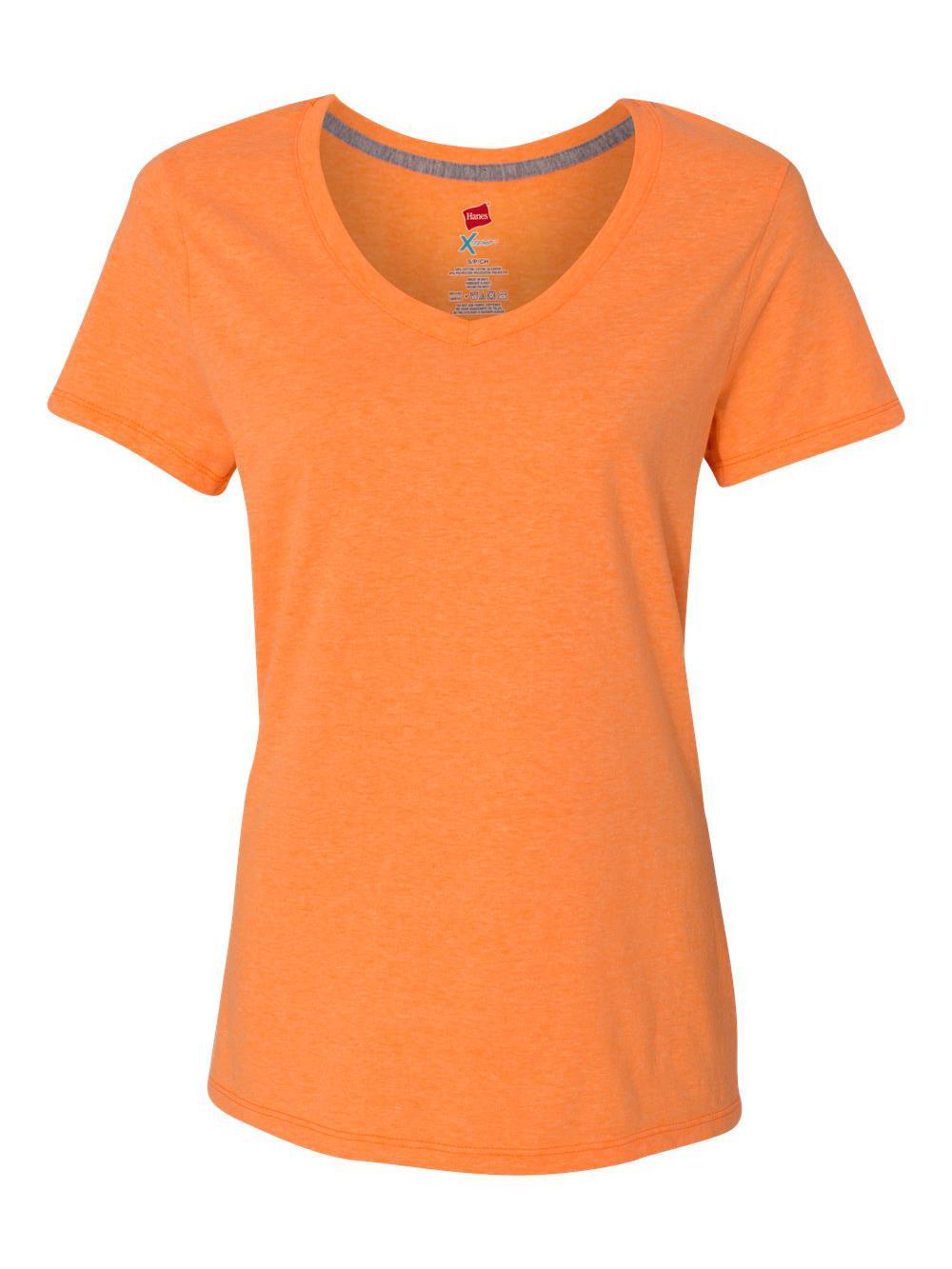 Hanes-X-Temp-Women-039-s-V-Neck-T-Shirt-42V0 thumbnail 15