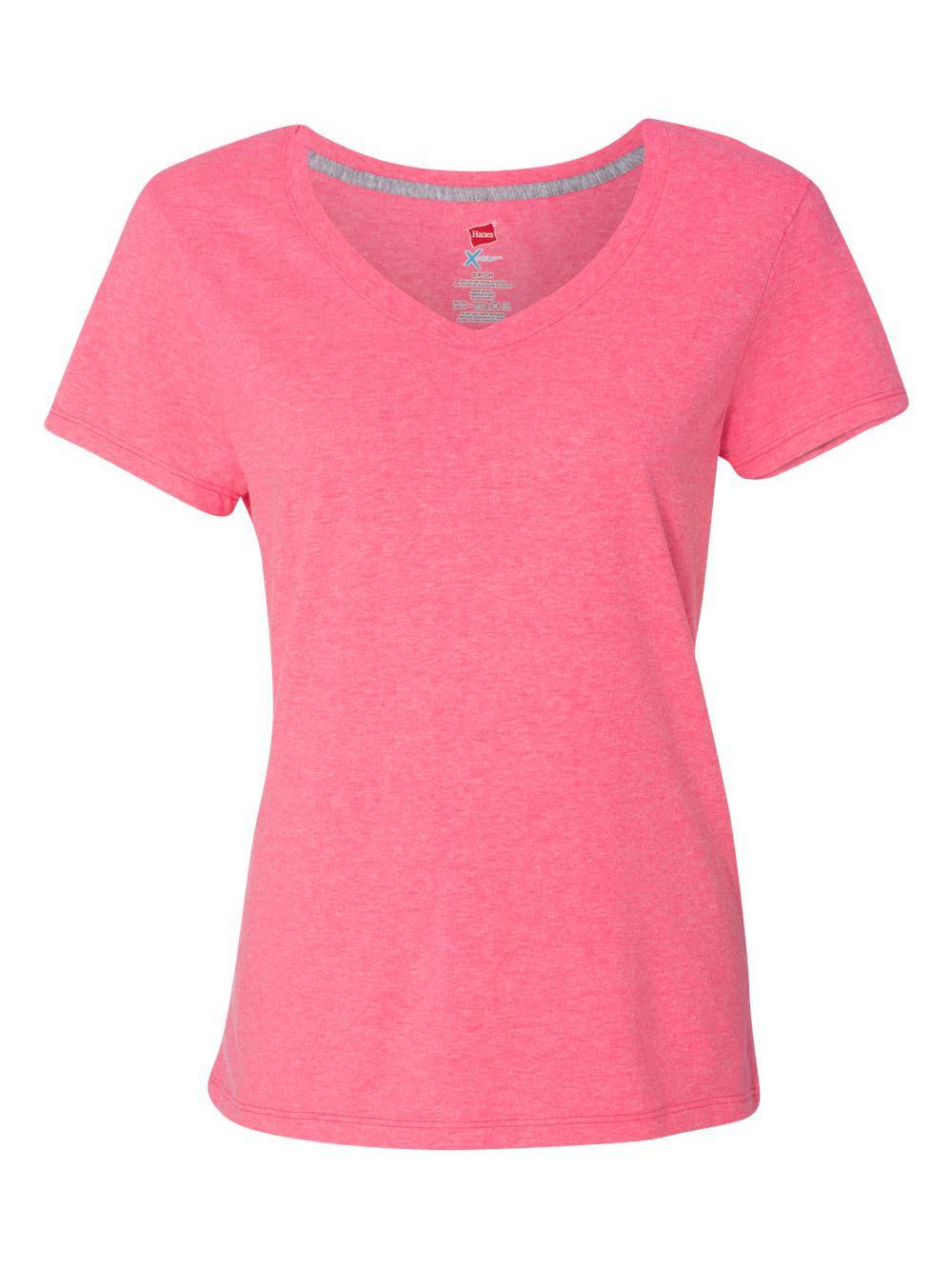 Hanes-X-Temp-Women-039-s-V-Neck-T-Shirt-42V0 thumbnail 18