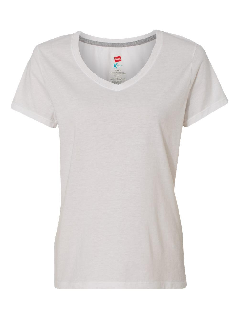 Hanes-X-Temp-Women-039-s-V-Neck-T-Shirt-42V0 thumbnail 21