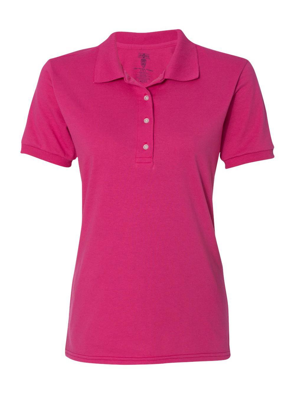 Jerzees-Women-039-s-Spotshield-50-50-Sport-Shirt-437WR thumbnail 6