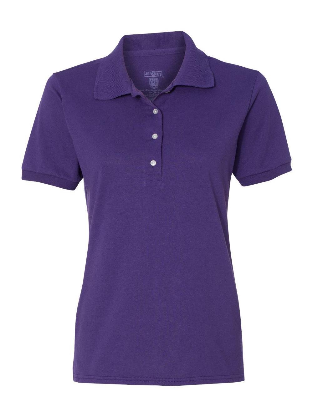 Jerzees-Women-039-s-Spotshield-50-50-Sport-Shirt-437WR thumbnail 9