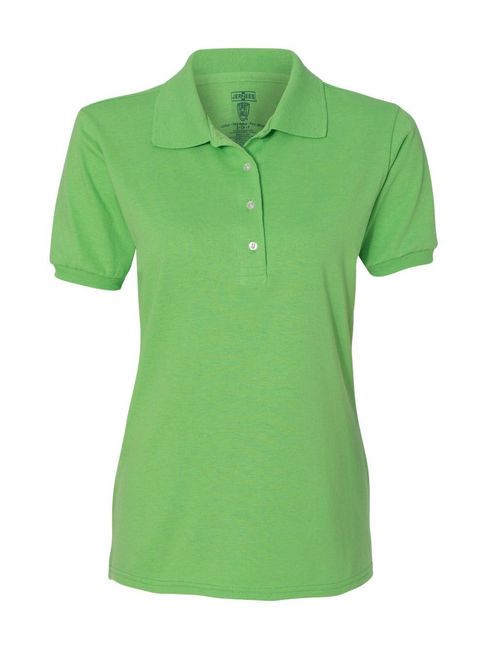 Jerzees-Women-039-s-Spotshield-50-50-Sport-Shirt-437WR thumbnail 18