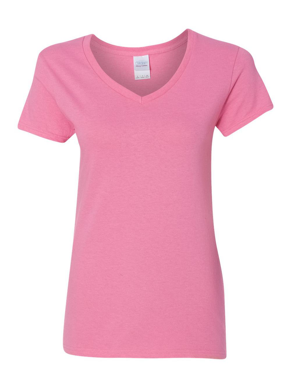 Gildan-Heavy-Cotton-Women-039-s-V-Neck-T-Shirt-5V00L thumbnail 3