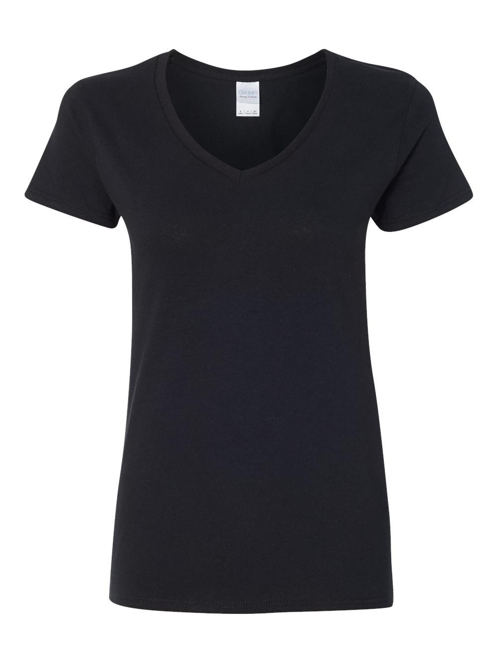Gildan-Heavy-Cotton-Women-039-s-V-Neck-T-Shirt-5V00L thumbnail 6