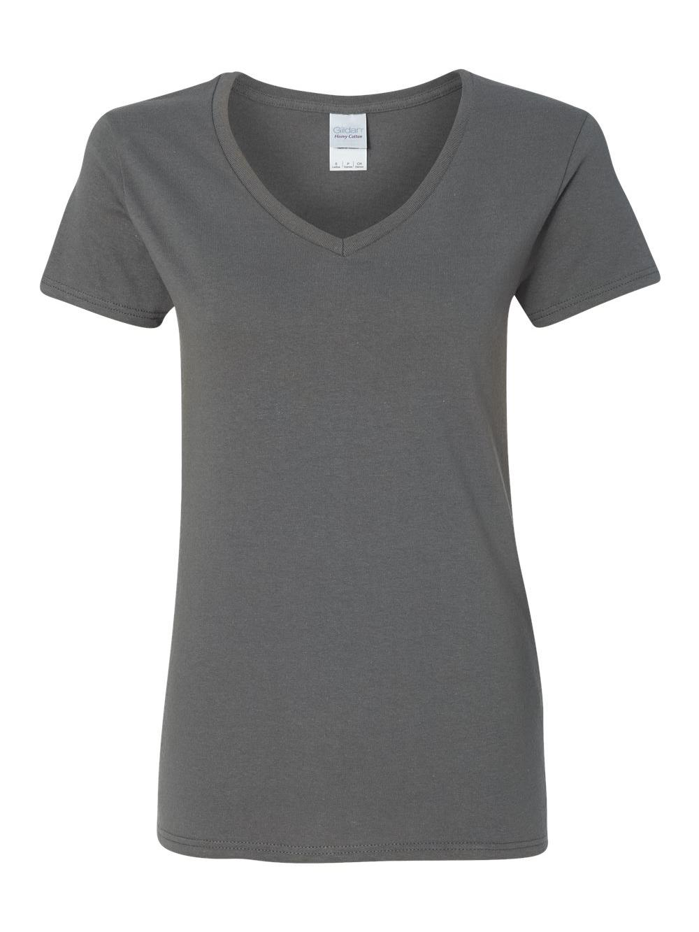 Gildan-Heavy-Cotton-Women-039-s-V-Neck-T-Shirt-5V00L thumbnail 9