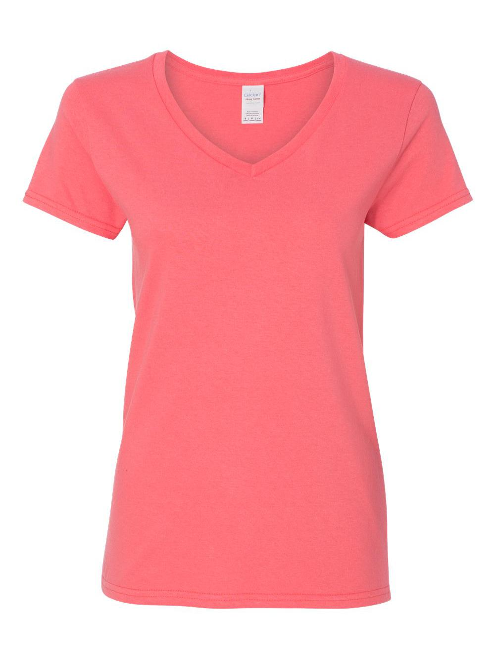 Gildan-Heavy-Cotton-Women-039-s-V-Neck-T-Shirt-5V00L thumbnail 12