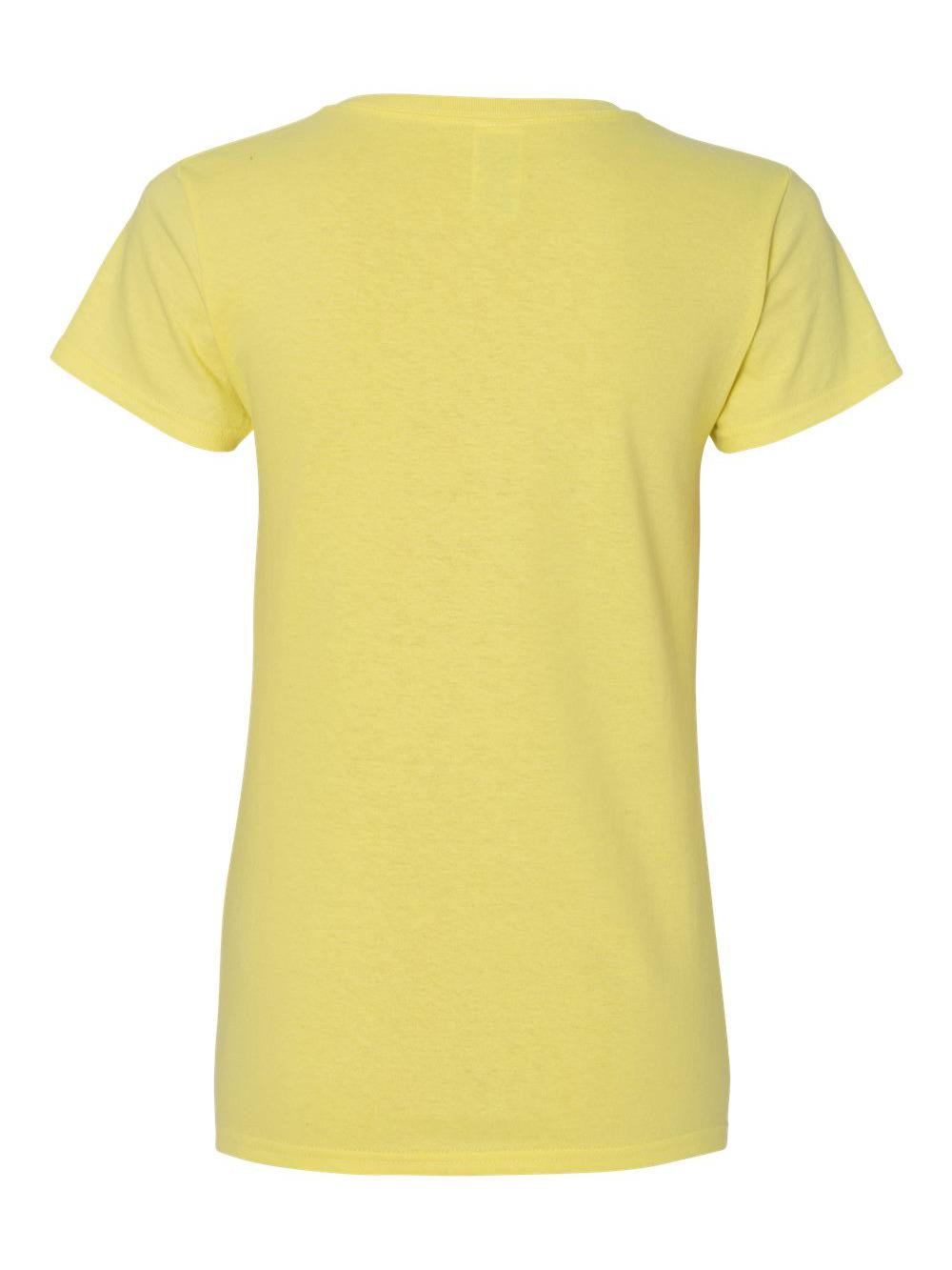 Gildan-Heavy-Cotton-Women-039-s-V-Neck-T-Shirt-5V00L thumbnail 16