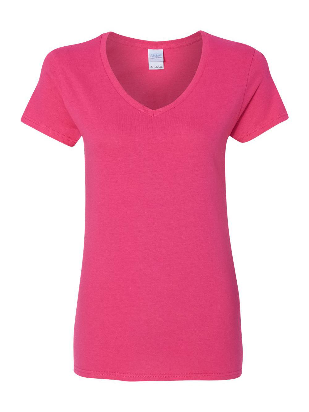 Gildan-Heavy-Cotton-Women-039-s-V-Neck-T-Shirt-5V00L thumbnail 24