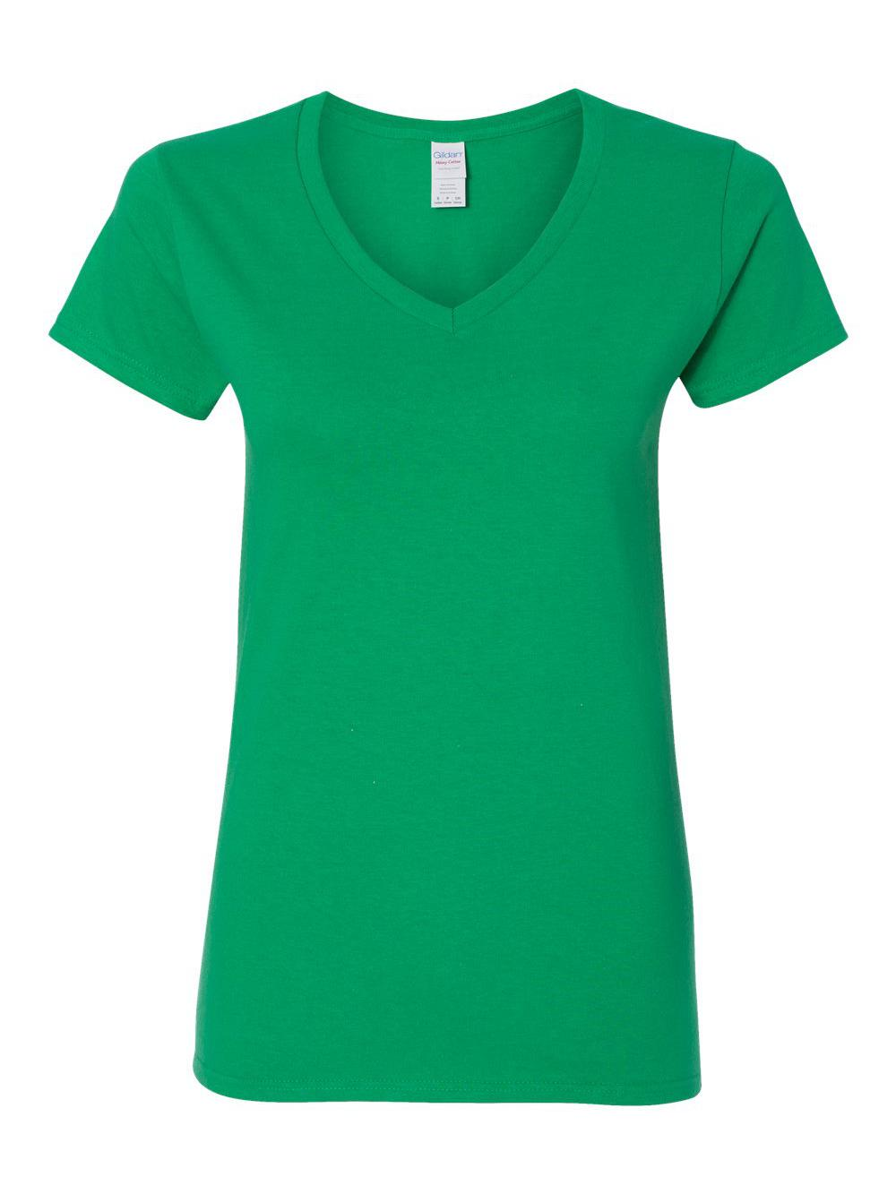 Gildan-Heavy-Cotton-Women-039-s-V-Neck-T-Shirt-5V00L thumbnail 27