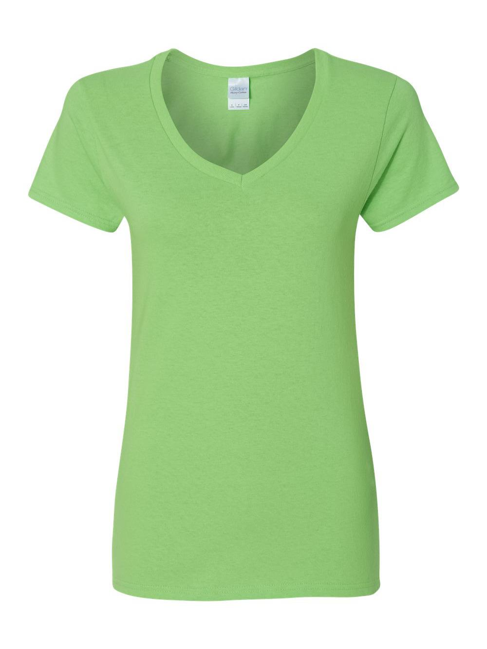 Gildan-Heavy-Cotton-Women-039-s-V-Neck-T-Shirt-5V00L thumbnail 30