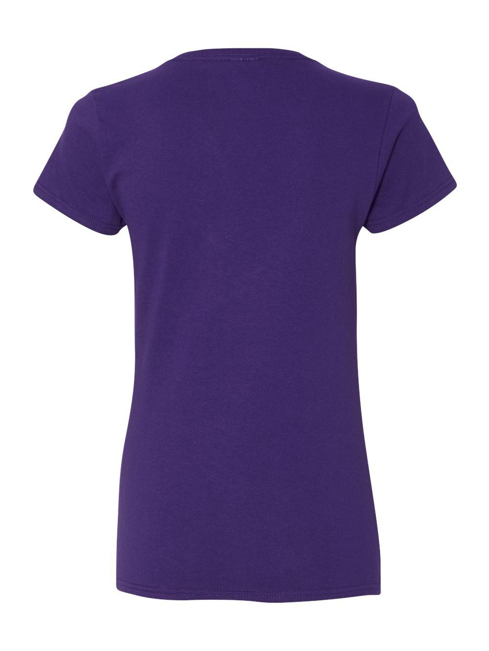 Gildan-Heavy-Cotton-Women-039-s-V-Neck-T-Shirt-5V00L thumbnail 37