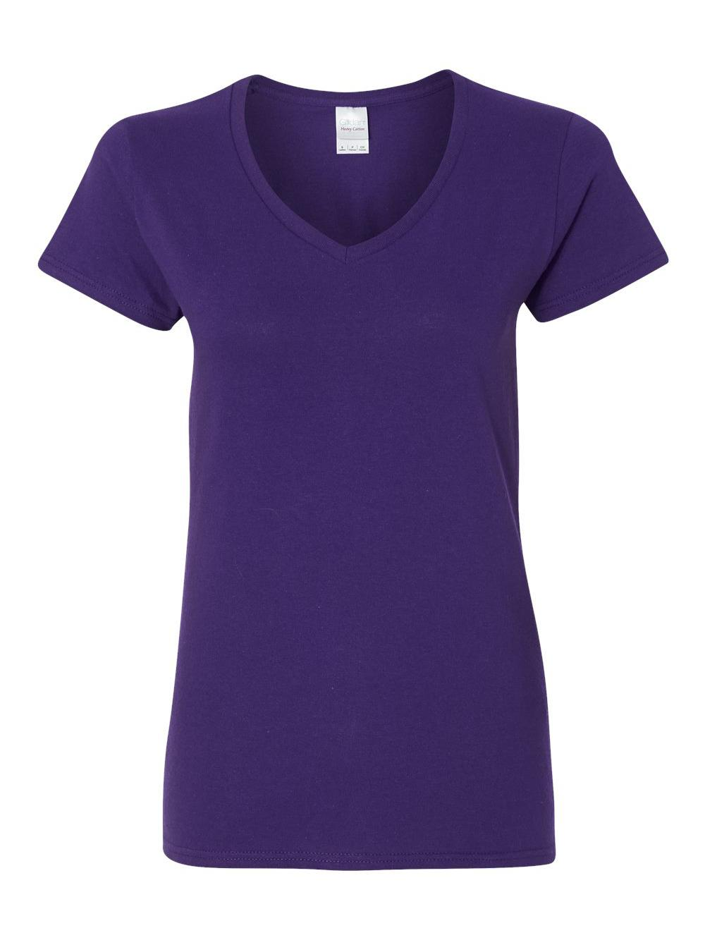 Gildan-Heavy-Cotton-Women-039-s-V-Neck-T-Shirt-5V00L thumbnail 36