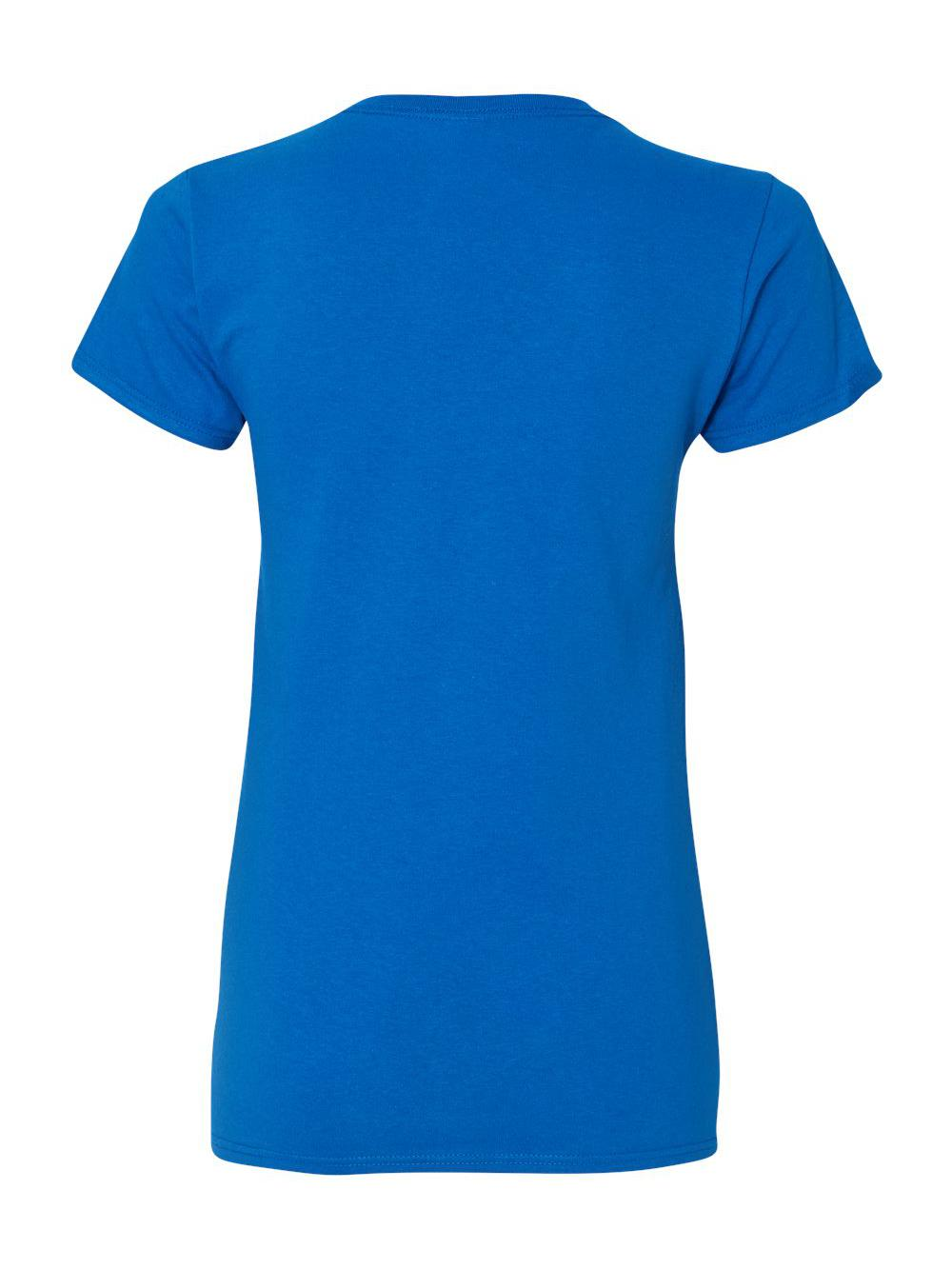 Gildan-Heavy-Cotton-Women-039-s-V-Neck-T-Shirt-5V00L thumbnail 43