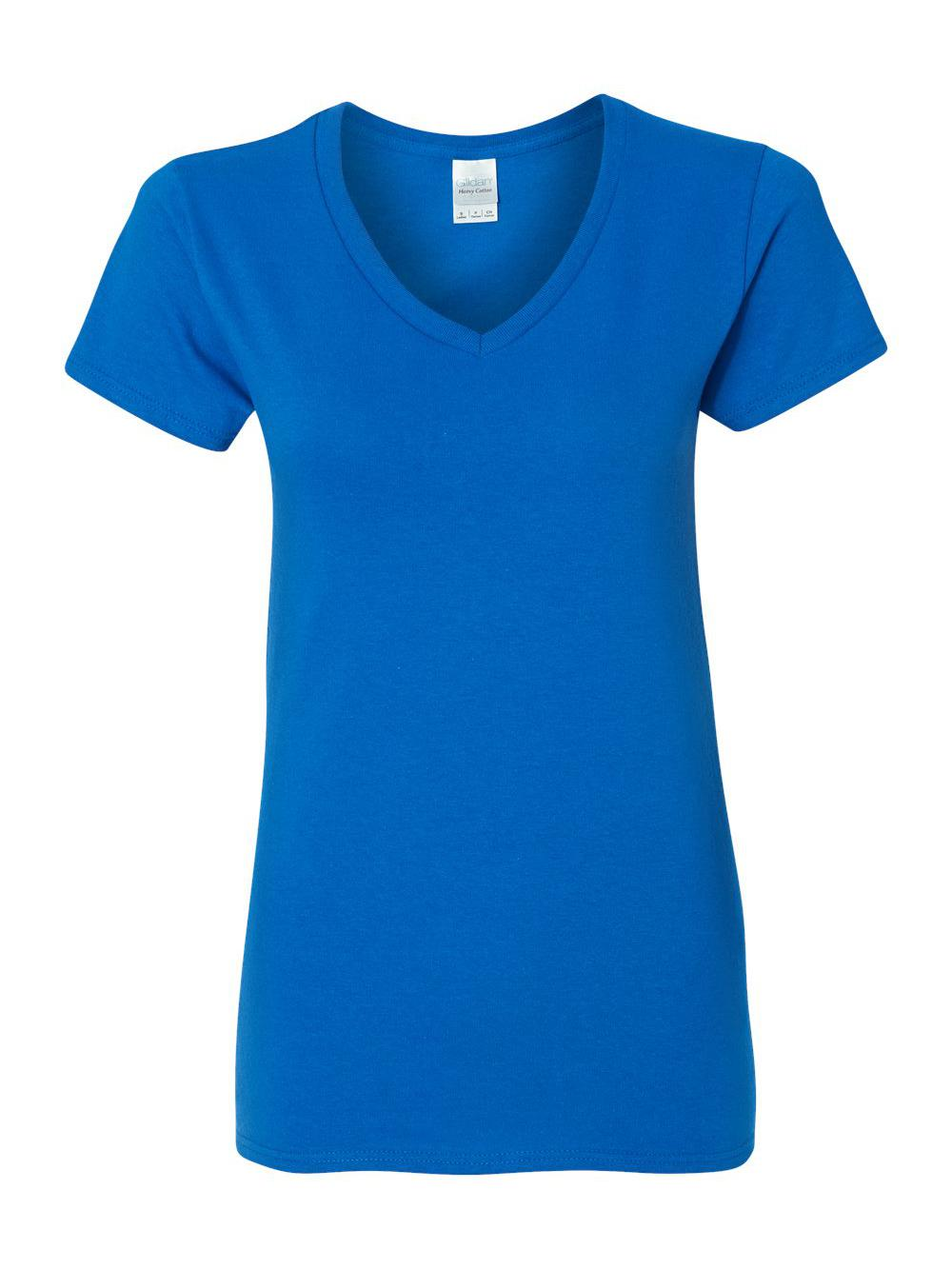 Gildan-Heavy-Cotton-Women-039-s-V-Neck-T-Shirt-5V00L thumbnail 42