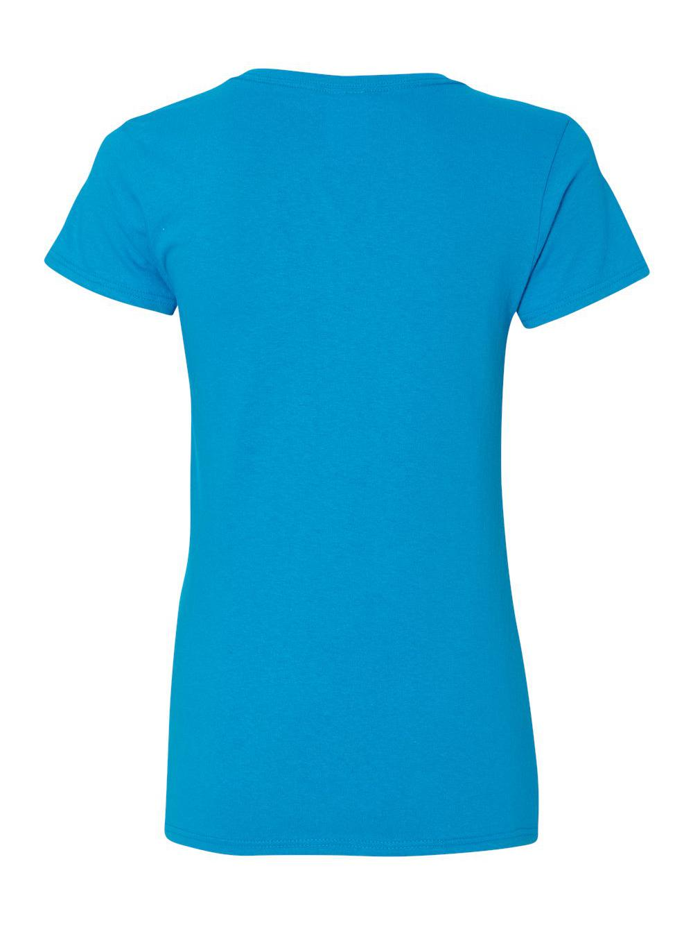 Gildan-Heavy-Cotton-Women-039-s-V-Neck-T-Shirt-5V00L thumbnail 46