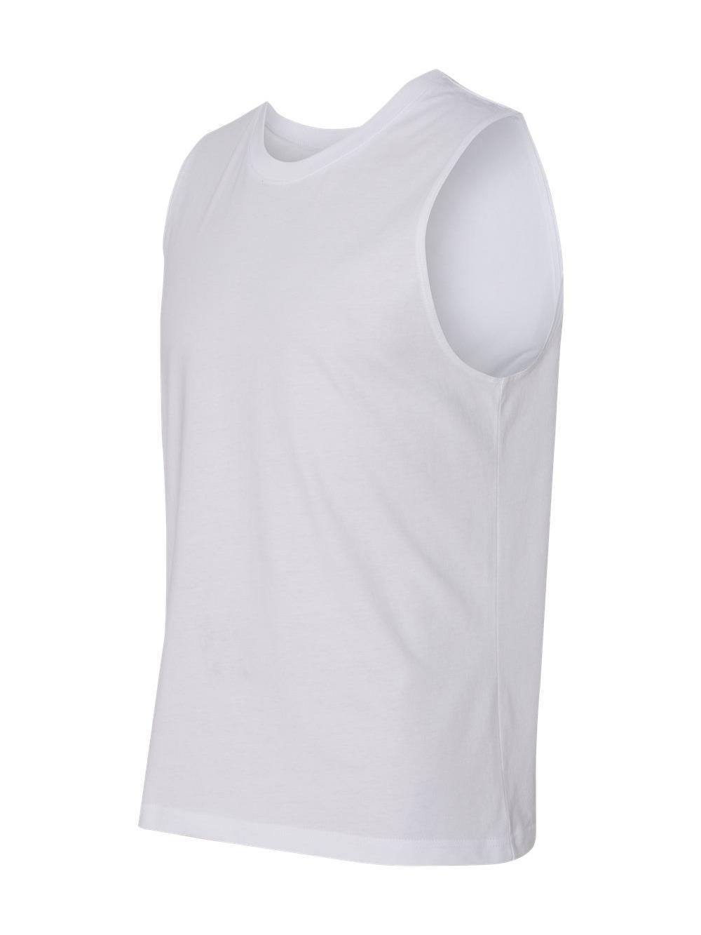 White Mens Sleeveless Shirt