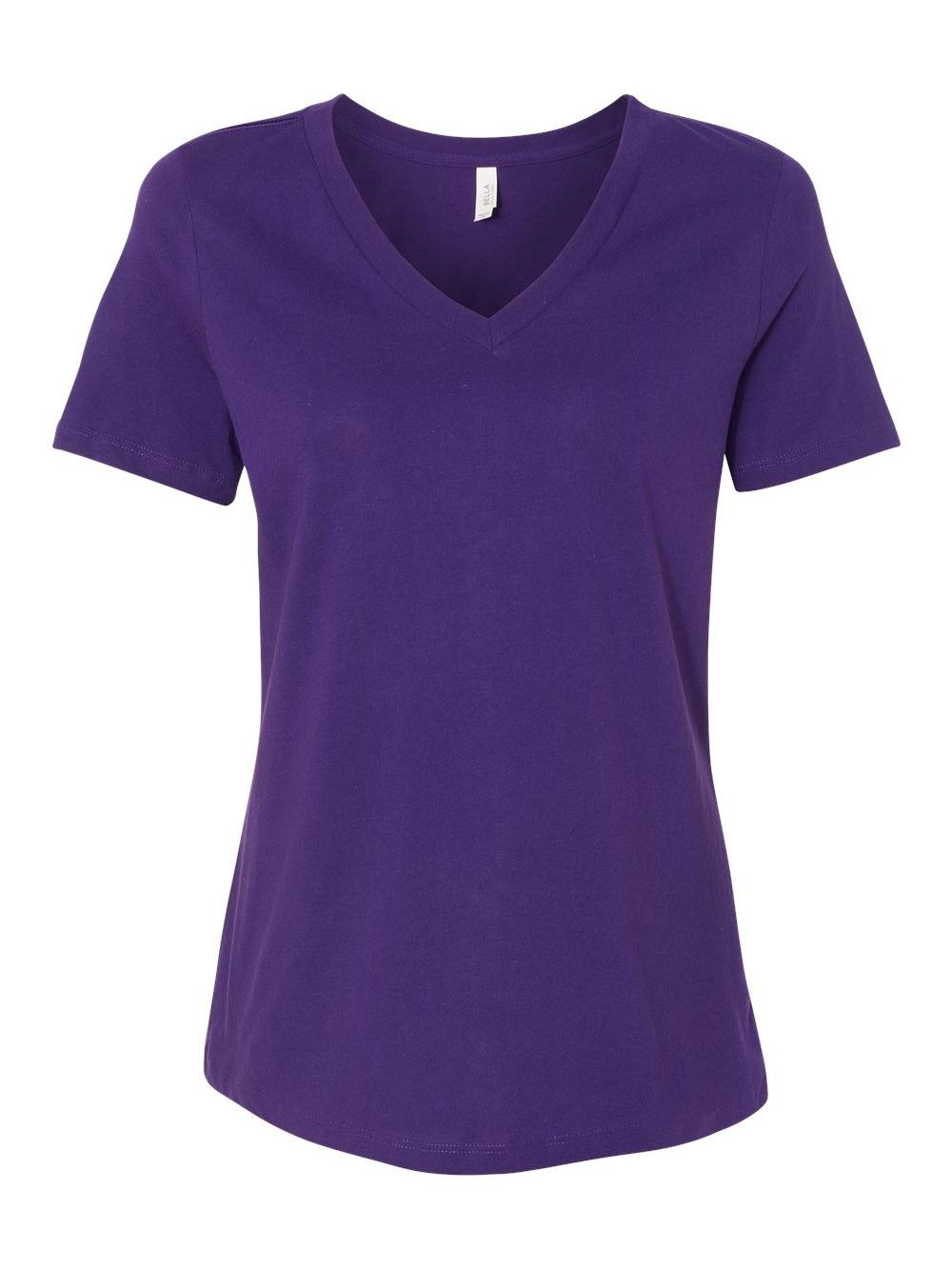Bella-Canvas-Women-039-s-Relaxed-Short-Sleeve-Jersey-V-Neck-Tee-6405 thumbnail 42