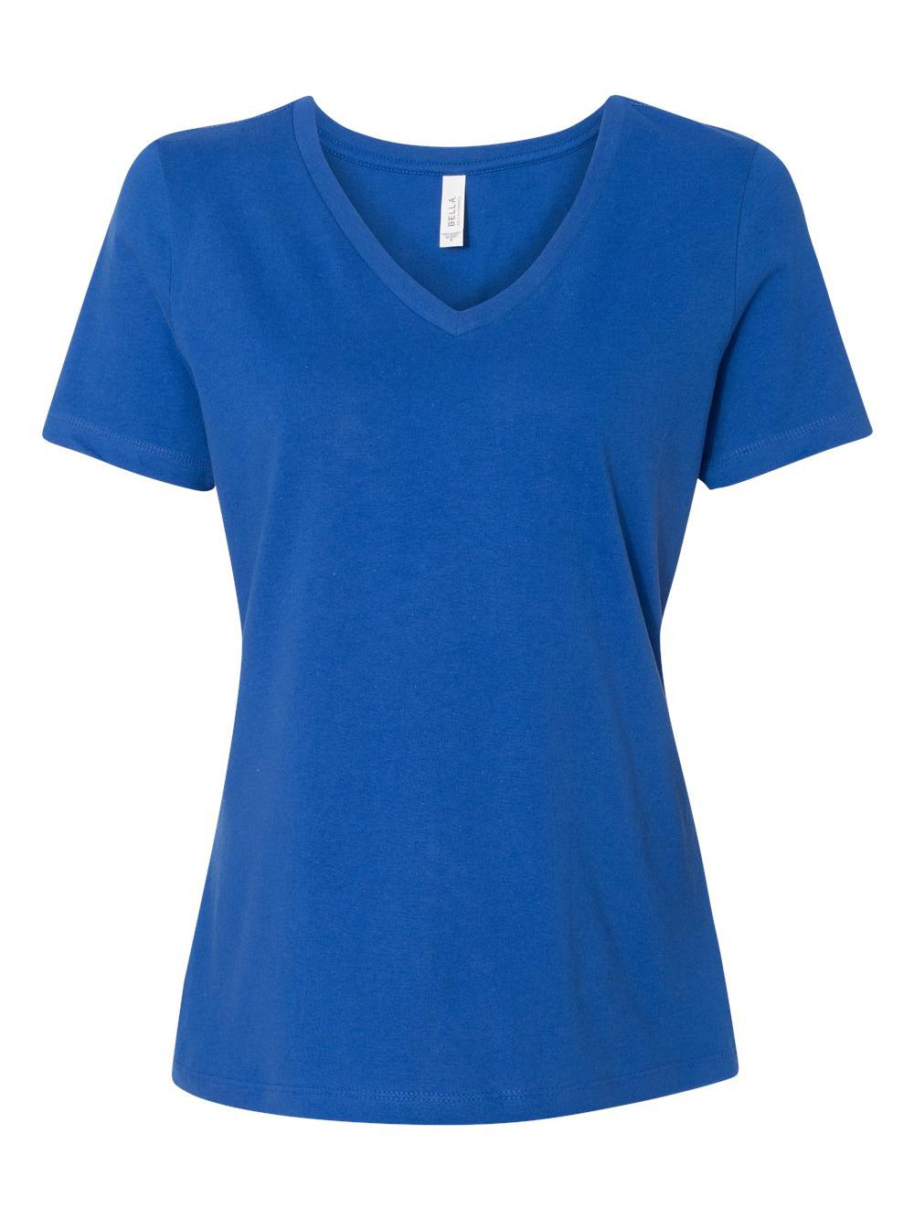 Bella-Canvas-Women-039-s-Relaxed-Short-Sleeve-Jersey-V-Neck-Tee-6405 thumbnail 45