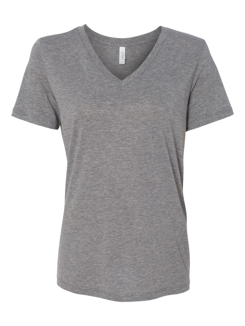 Bella-Canvas-Women-039-s-Relaxed-Short-Sleeve-Jersey-V-Neck-Tee-6405 thumbnail 21