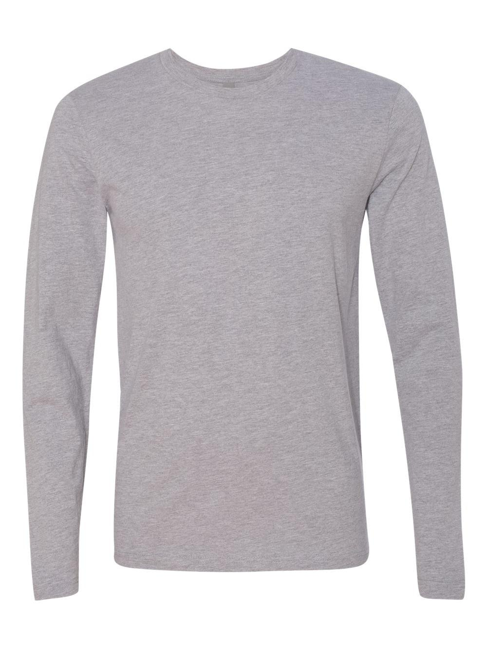Next Level Apparel N3601 Mens Premium Fitted Long-sleeve Crew Heather Gray  2xl. About this product. Picture 1 of 4  Picture 2 of 4  Picture 3 of 4 ... b1fd8d0d3b83c