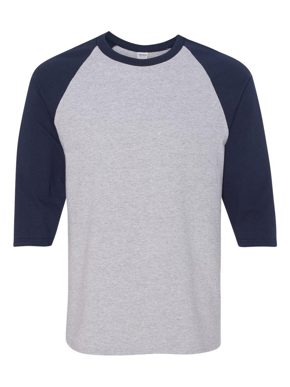Gildan-Heavy-Cotton-Three-Quarter-Raglan-Sleeve-Baseball-T-Shirt-5700 thumbnail 9