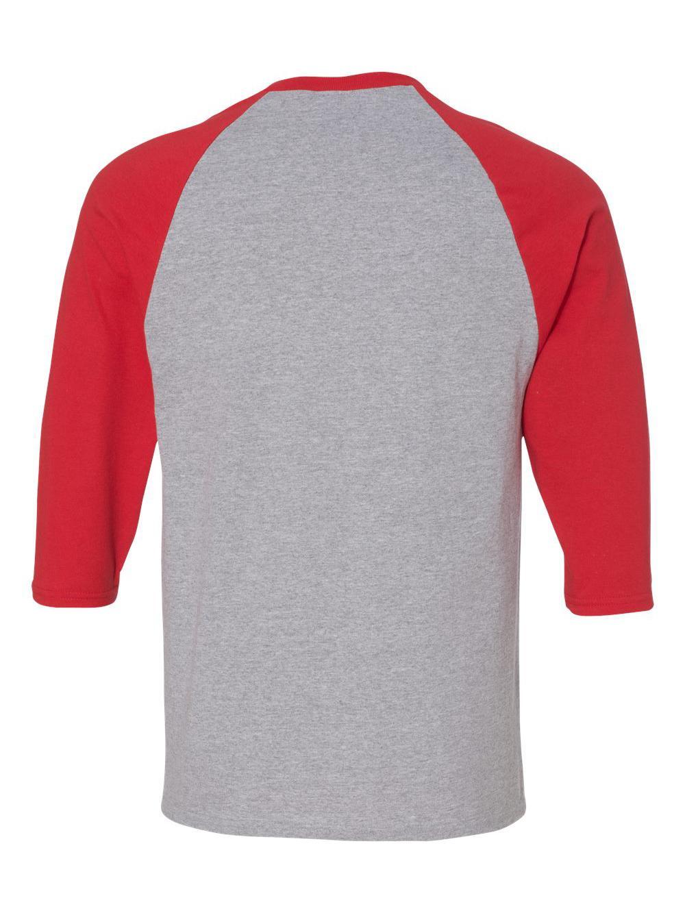 Gildan-Heavy-Cotton-Three-Quarter-Raglan-Sleeve-Baseball-T-Shirt-5700 thumbnail 13