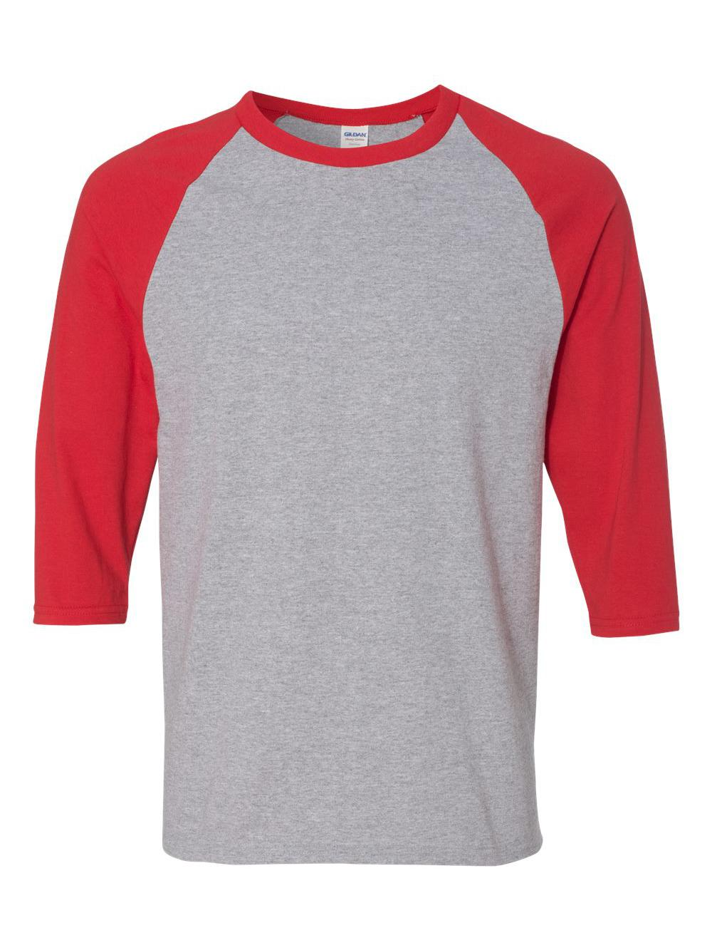 Gildan-Heavy-Cotton-Three-Quarter-Raglan-Sleeve-Baseball-T-Shirt-5700 thumbnail 12