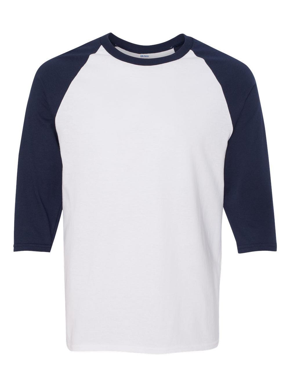 Gildan-Heavy-Cotton-Three-Quarter-Raglan-Sleeve-Baseball-T-Shirt-5700 thumbnail 33