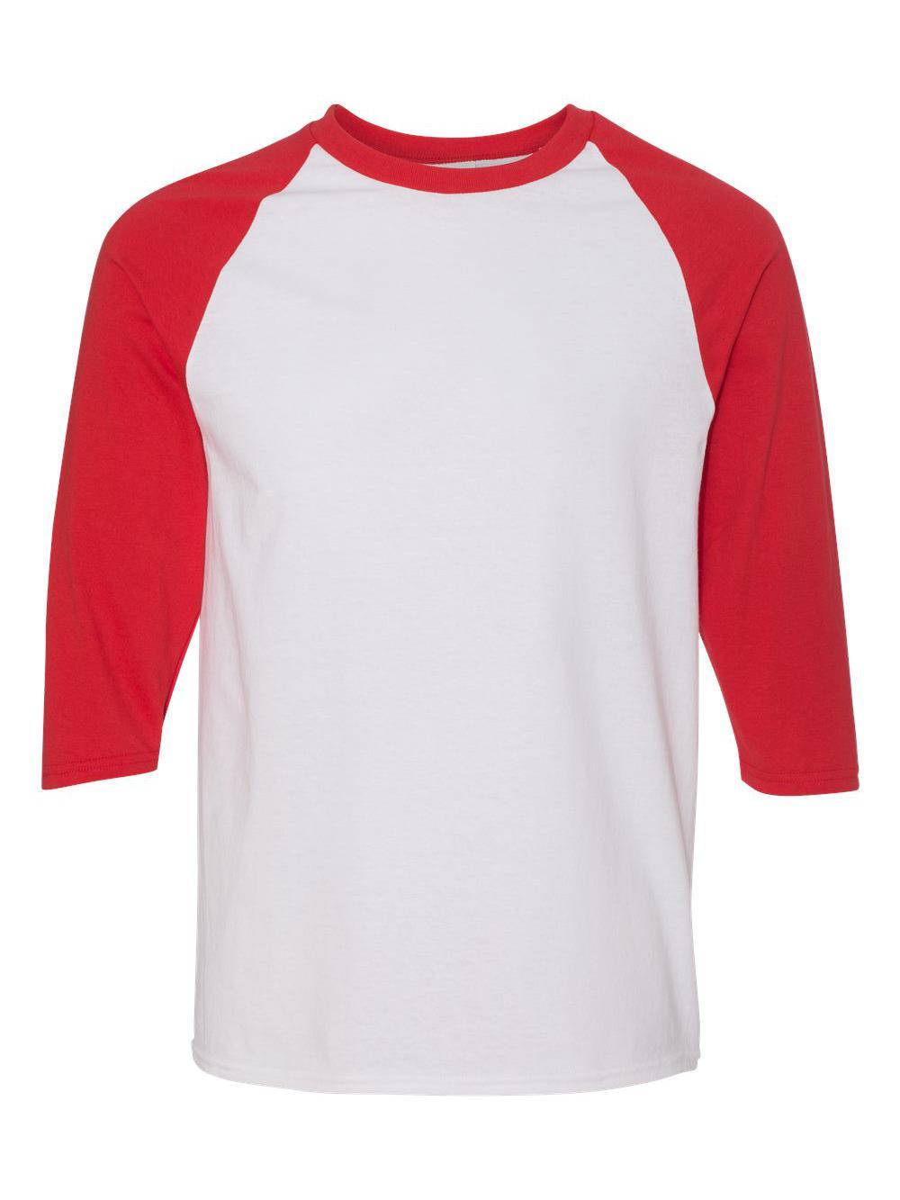 Gildan-Heavy-Cotton-Three-Quarter-Raglan-Sleeve-Baseball-T-Shirt-5700 thumbnail 39