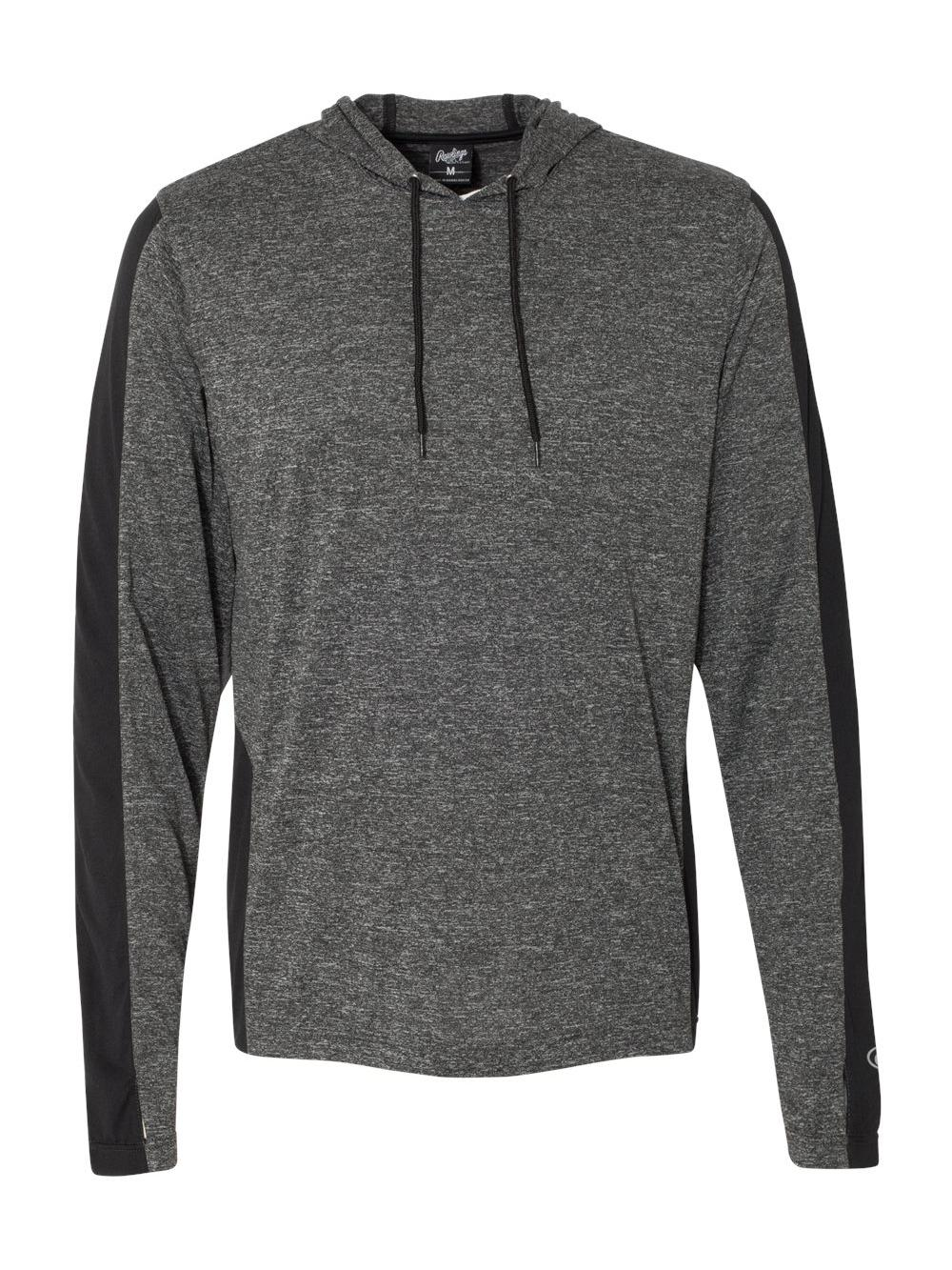Rawlings-Performance-Cationic-Hooded-Pullover-T-Shirt-8199 thumbnail 3