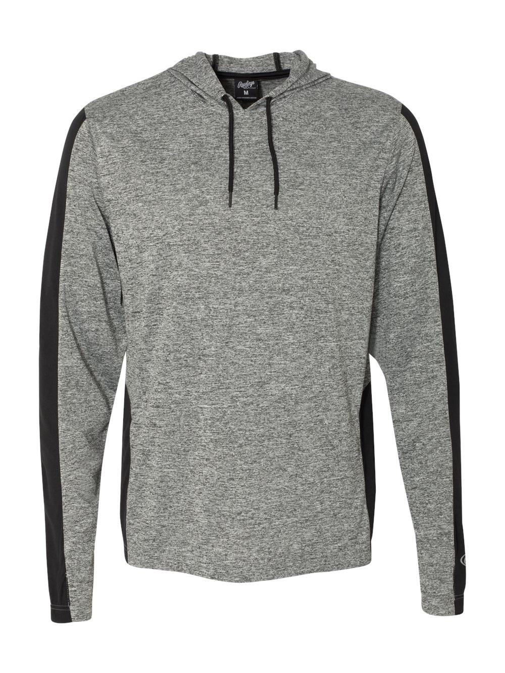 Rawlings-Performance-Cationic-Hooded-Pullover-T-Shirt-8199 thumbnail 6