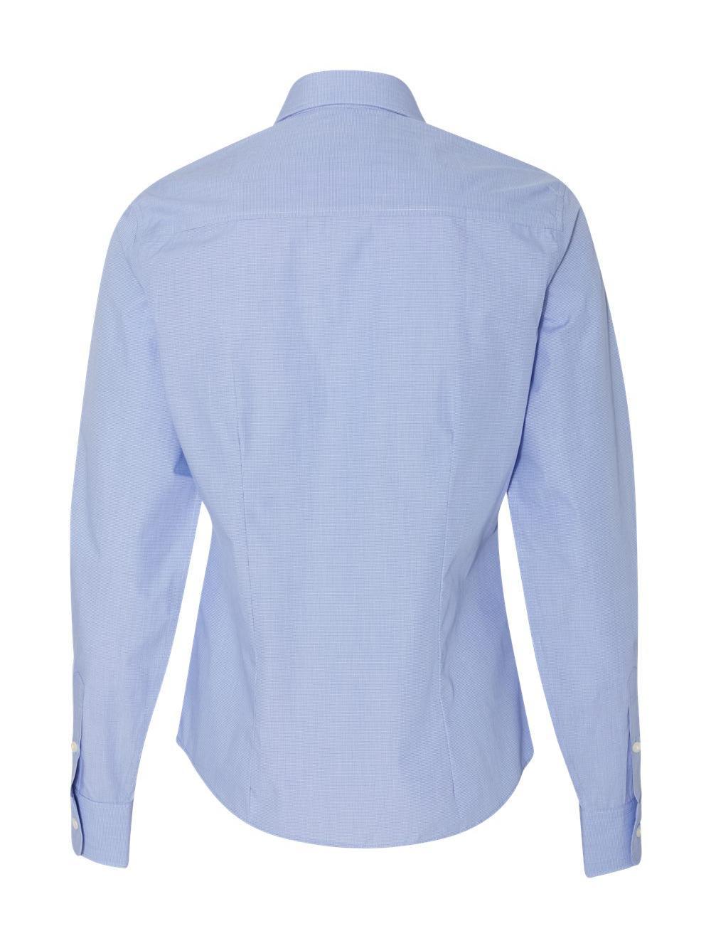 Van-Heusen-Women-039-s-Yarn-Dyed-Mini-Check-Long-Sleeve-Shirt-13V0427 thumbnail 7