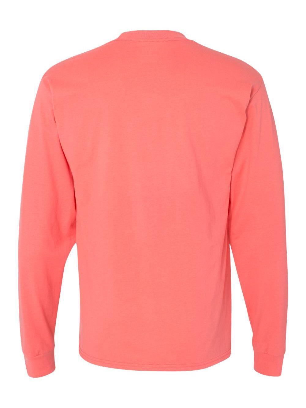 Hanes-Beefy-T-Long-Sleeve-T-Shirt-5186 thumbnail 19