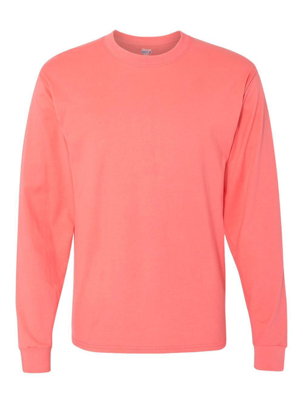 Hanes-Beefy-T-Long-Sleeve-T-Shirt-5186 thumbnail 18