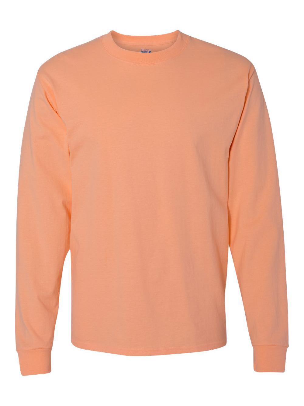 Hanes-Beefy-T-Long-Sleeve-T-Shirt-5186 thumbnail 12