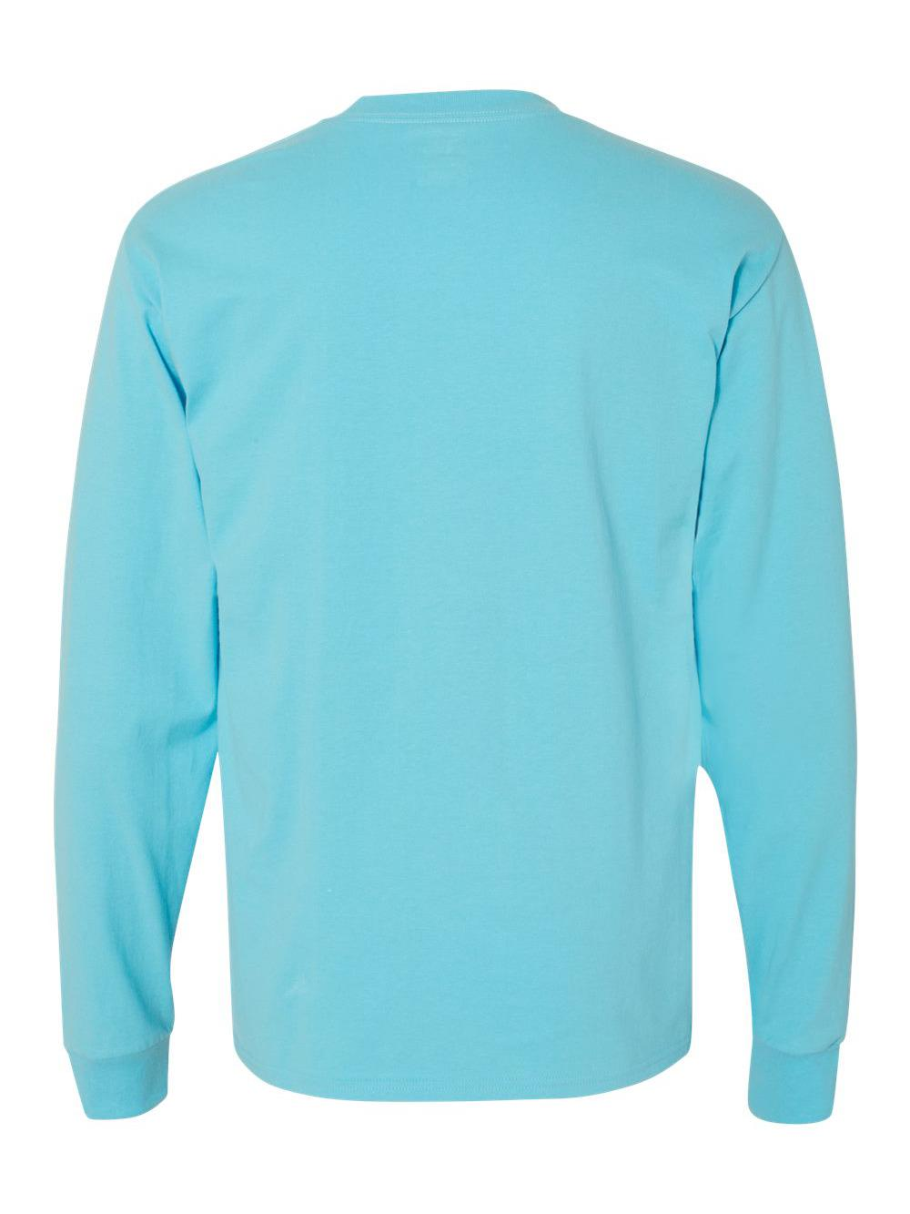 Hanes-Beefy-T-Long-Sleeve-T-Shirt-5186 thumbnail 10