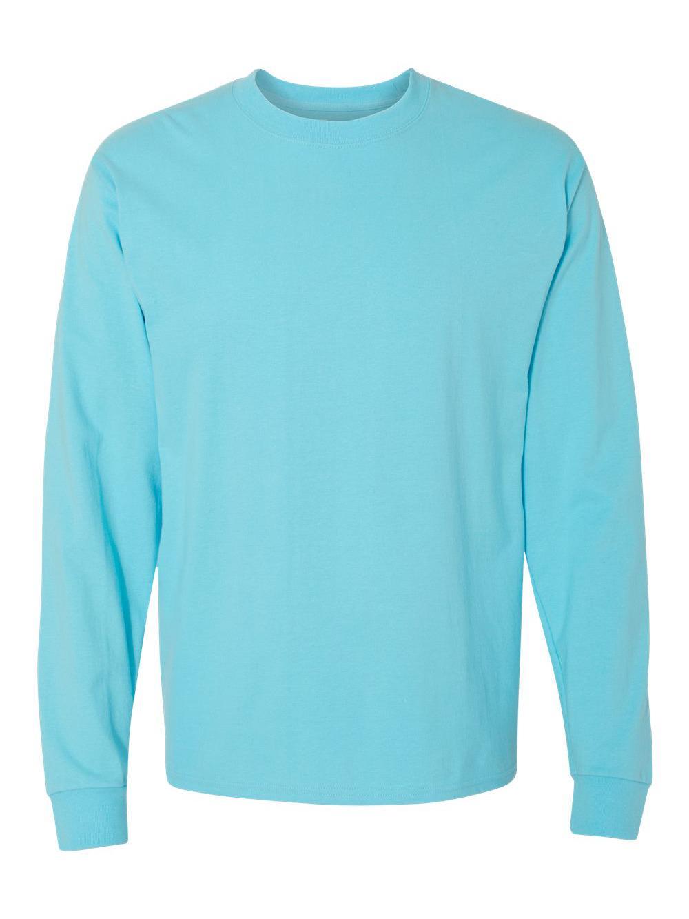 Hanes-Beefy-T-Long-Sleeve-T-Shirt-5186 thumbnail 9
