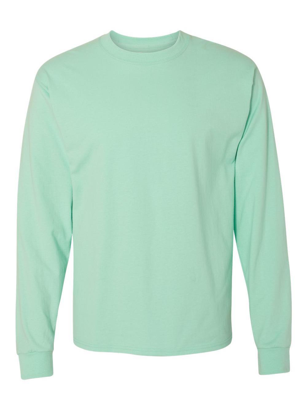 Hanes-Beefy-T-Long-Sleeve-T-Shirt-5186 thumbnail 21