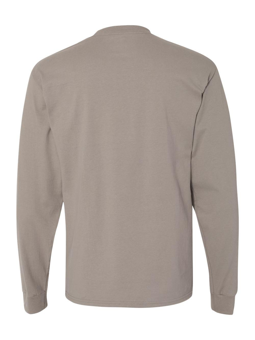 Hanes-Beefy-T-Long-Sleeve-T-Shirt-5186 thumbnail 52