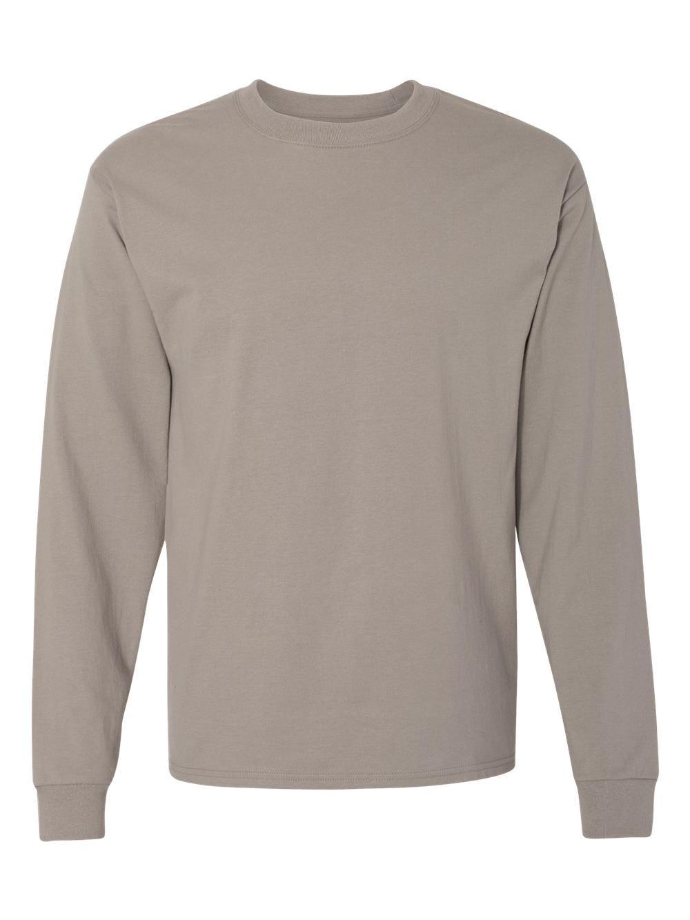 Hanes-Beefy-T-Long-Sleeve-T-Shirt-5186 thumbnail 51