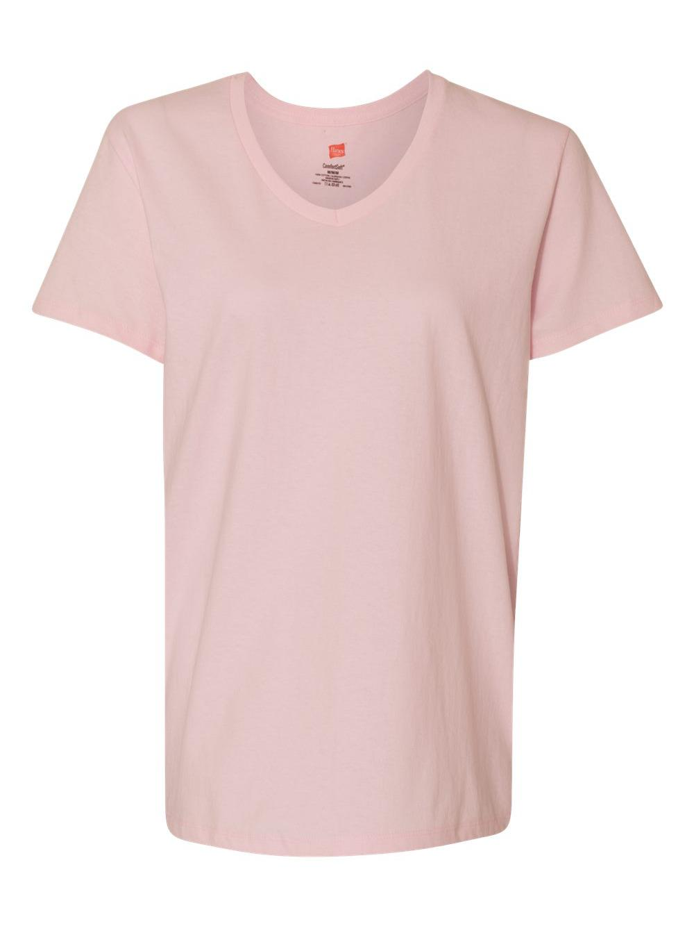 Hanes-Women-039-s-Tagless-V-Neck-T-Shirt-5780 thumbnail 24