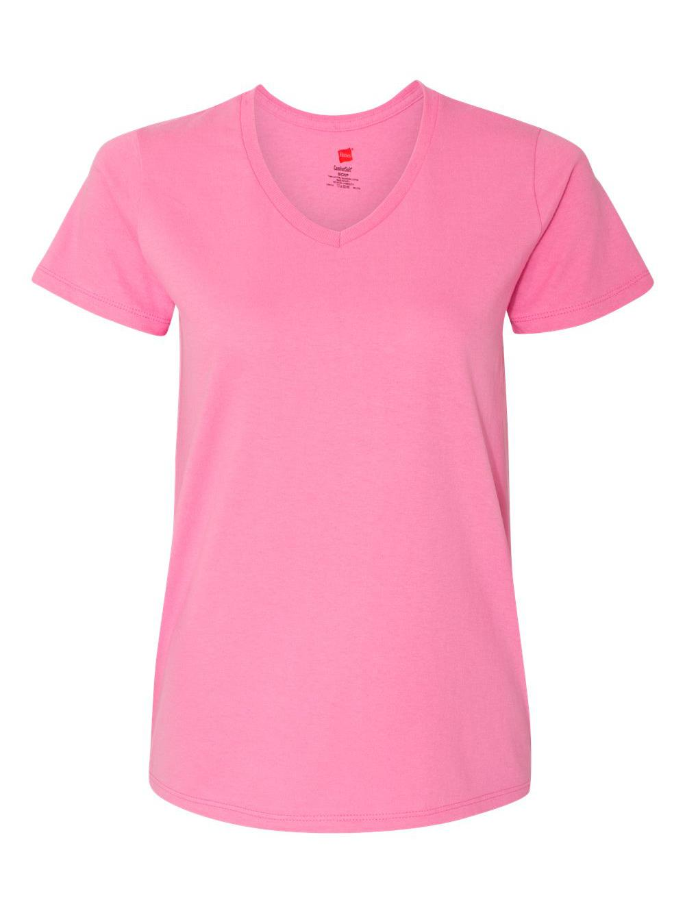 Hanes-Women-039-s-Tagless-V-Neck-T-Shirt-5780 thumbnail 27