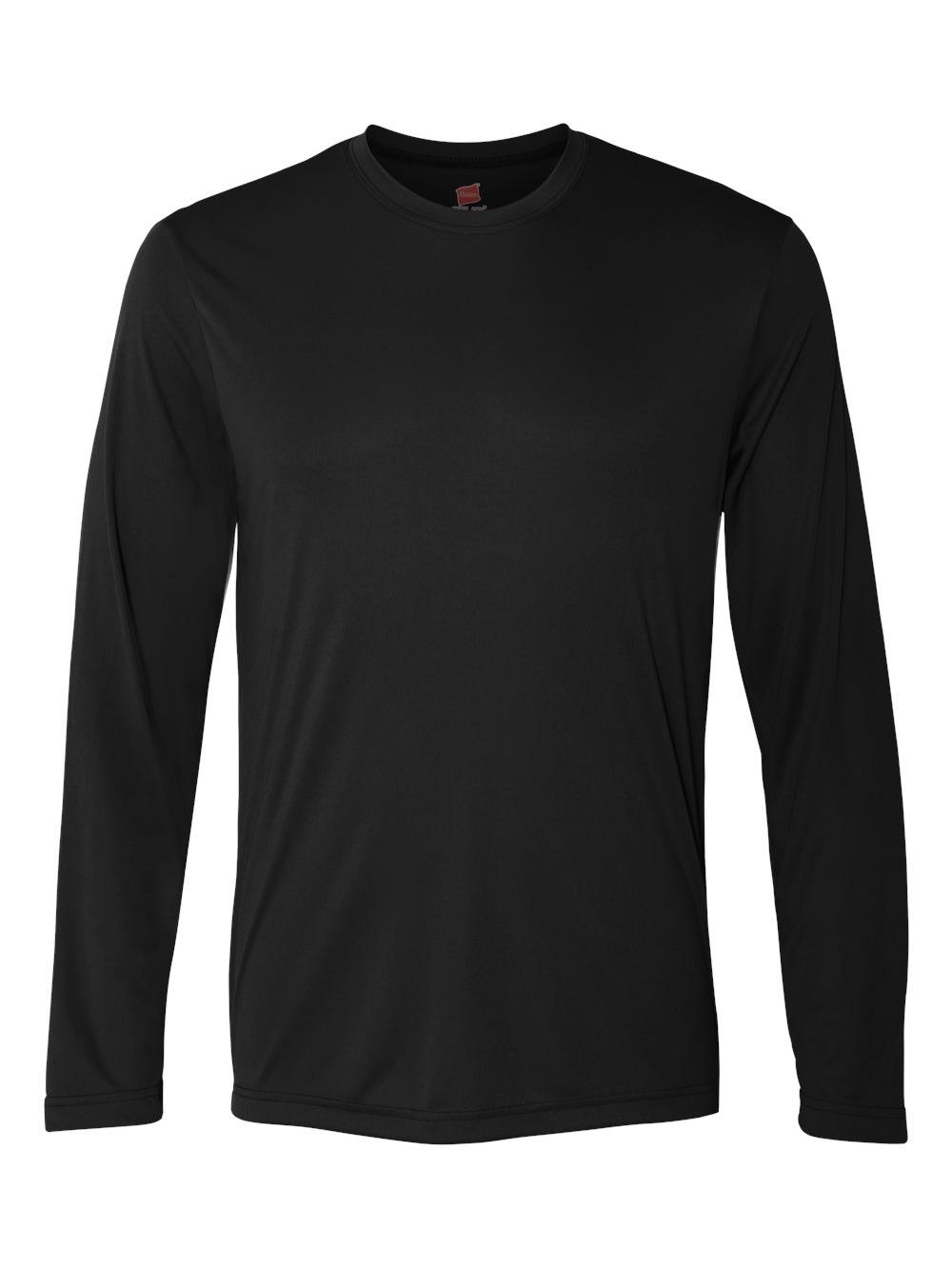 Hanes-Cool-Dri-Long-Sleeve-Performance-T-Shirt-482L thumbnail 3