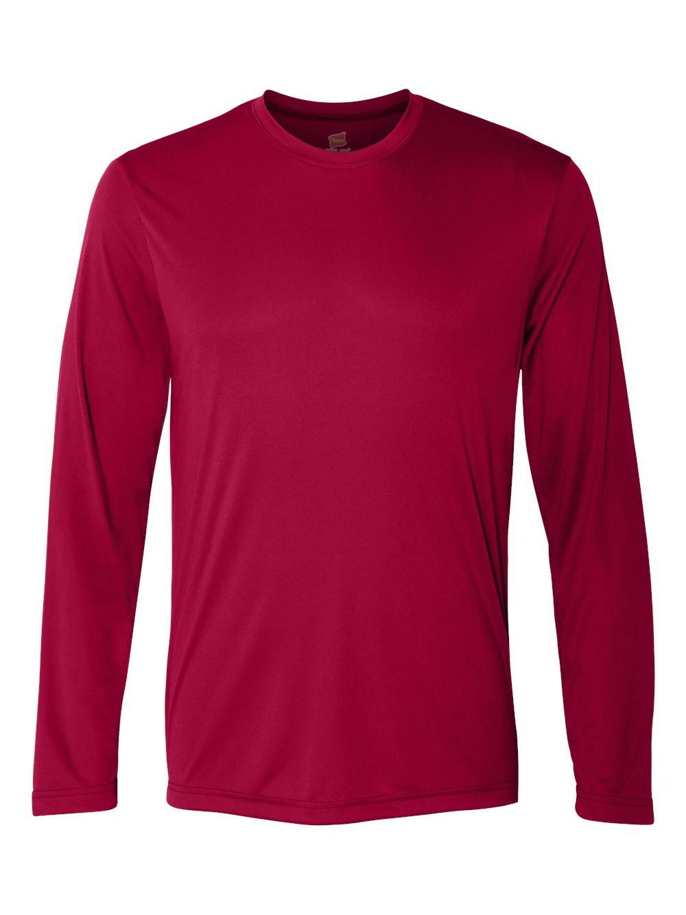 Hanes-Cool-Dri-Long-Sleeve-Performance-T-Shirt-482L thumbnail 6