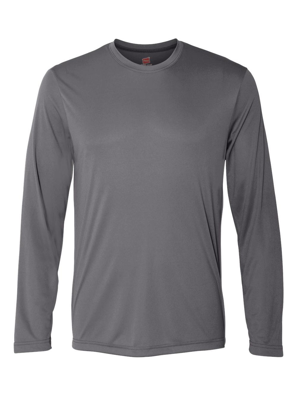Hanes-Cool-Dri-Long-Sleeve-Performance-T-Shirt-482L thumbnail 12