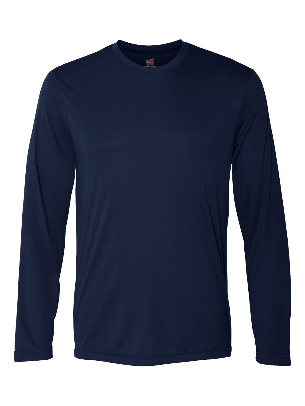 Hanes-Cool-Dri-Long-Sleeve-Performance-T-Shirt-482L thumbnail 15